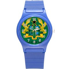 National Seal of Ghana Round Plastic Sport Watch (S)
