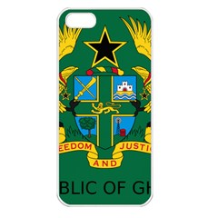 National Seal of Ghana Apple iPhone 5 Seamless Case (White)
