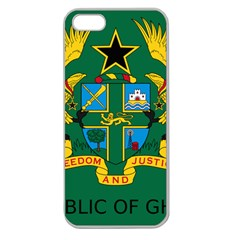 National Seal of Ghana Apple Seamless iPhone 5 Case (Clear)