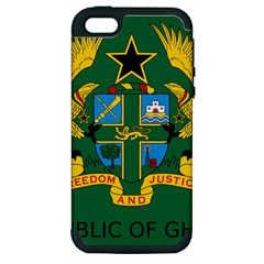 National Seal of Ghana Apple iPhone 5 Hardshell Case (PC+Silicone)