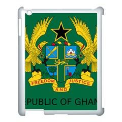 National Seal of Ghana Apple iPad 3/4 Case (White)