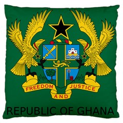 National Seal of Ghana Large Flano Cushion Case (One Side)