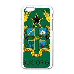 National Seal of Ghana Apple iPhone 6/6S White Enamel Case