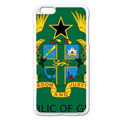 National Seal of Ghana Apple iPhone 6 Plus/6S Plus Enamel White Case