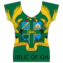 National Seal of Ghana Women s V-Neck Cap Sleeve Top