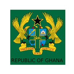 National Seal of Ghana Small Satin Scarf (Square)