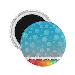 Rainbow Background Border Colorful 2 25  Magnets