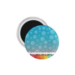 Rainbow Background Border Colorful 1 75  Magnets