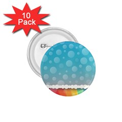 Rainbow Background Border Colorful 1 75  Buttons (10 Pack)