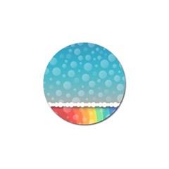 Rainbow Background Border Colorful Golf Ball Marker