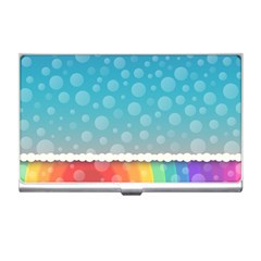 Rainbow Background Border Colorful Business Card Holders