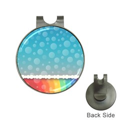 Rainbow Background Border Colorful Hat Clips With Golf Markers