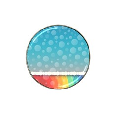 Rainbow Background Border Colorful Hat Clip Ball Marker