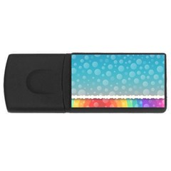 Rainbow Background Border Colorful Usb Flash Drive Rectangular (4 Gb)