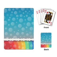 Rainbow Background Border Colorful Playing Card