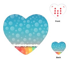 Rainbow Background Border Colorful Playing Cards (heart)