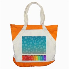 Rainbow Background Border Colorful Accent Tote Bag
