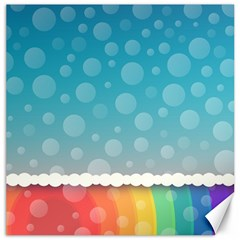 Rainbow Background Border Colorful Canvas 16  x 16