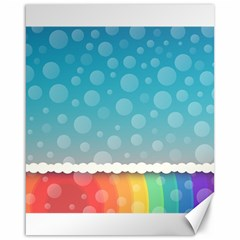 Rainbow Background Border Colorful Canvas 16  X 20