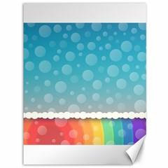 Rainbow Background Border Colorful Canvas 36  X 48