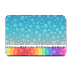 Rainbow Background Border Colorful Small Doormat
