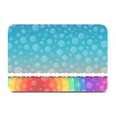 Rainbow Background Border Colorful Plate Mats