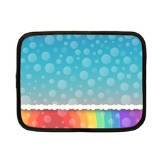 Rainbow Background Border Colorful Netbook Case (small)