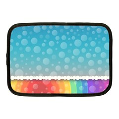 Rainbow Background Border Colorful Netbook Case (Medium)