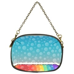 Rainbow Background Border Colorful Chain Purses (one Side)