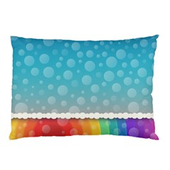 Rainbow Background Border Colorful Pillow Case