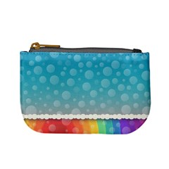 Rainbow Background Border Colorful Mini Coin Purses