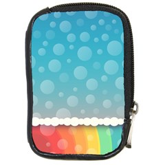 Rainbow Background Border Colorful Compact Camera Cases