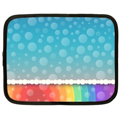 Rainbow Background Border Colorful Netbook Case (xl)