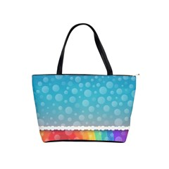 Rainbow Background Border Colorful Shoulder Handbags