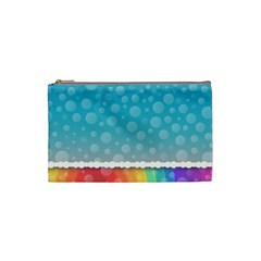 Rainbow Background Border Colorful Cosmetic Bag (small)