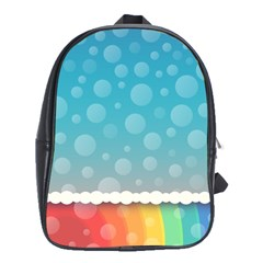 Rainbow Background Border Colorful School Bags(large)