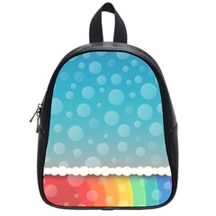 Rainbow Background Border Colorful School Bags (small)