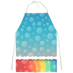 Rainbow Background Border Colorful Full Print Aprons