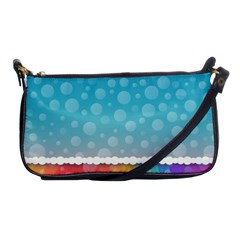 Rainbow Background Border Colorful Shoulder Clutch Bags