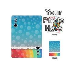 Rainbow Background Border Colorful Playing Cards 54 (mini)
