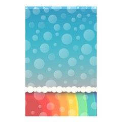 Rainbow Background Border Colorful Shower Curtain 48  X 72  (small)