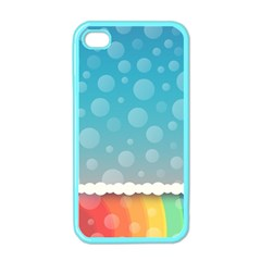 Rainbow Background Border Colorful Apple Iphone 4 Case (color)