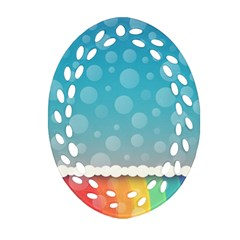 Rainbow Background Border Colorful Ornament (oval Filigree)