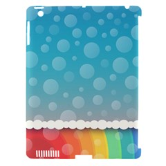 Rainbow Background Border Colorful Apple Ipad 3/4 Hardshell Case (compatible With Smart Cover)