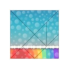 Rainbow Background Border Colorful Acrylic Tangram Puzzle (4  x 4 )