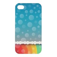 Rainbow Background Border Colorful Apple Iphone 4/4s Premium Hardshell Case