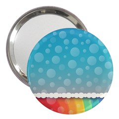 Rainbow Background Border Colorful 3  Handbag Mirrors