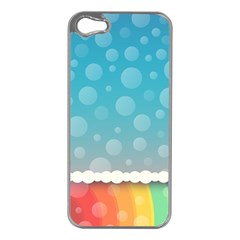 Rainbow Background Border Colorful Apple Iphone 5 Case (silver)