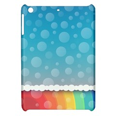 Rainbow Background Border Colorful Apple Ipad Mini Hardshell Case