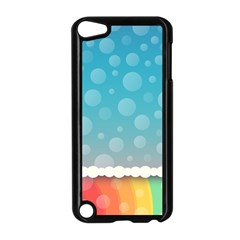 Rainbow Background Border Colorful Apple Ipod Touch 5 Case (black)
